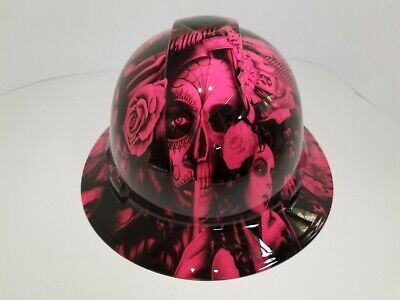 Full Brim Hard Hat Custom Hydro Dipped In No Love All Hustle Hot Pink Hot New