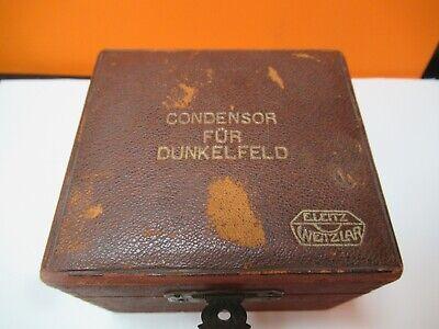 Antique Leitz Wetzlar Condenser Dunkelfeld Microscope Part As Pictured 16-b-06
