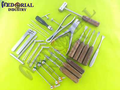 Basic Orthopedic Surgery Instruments Assorted Set Of 24 Pcs Fine Quality