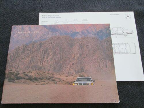 1982 Mercedes Big Brochure 300 D TD 300SD 380 SEC SL 380SEC 380SL 380SEL Catalog