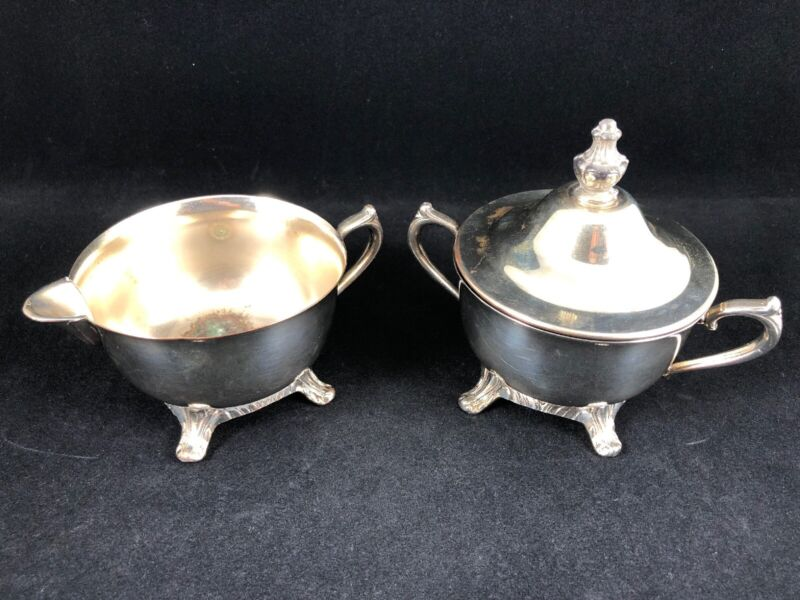 International Silver Company Sugar Bowl and Creamer Set Silver Plated