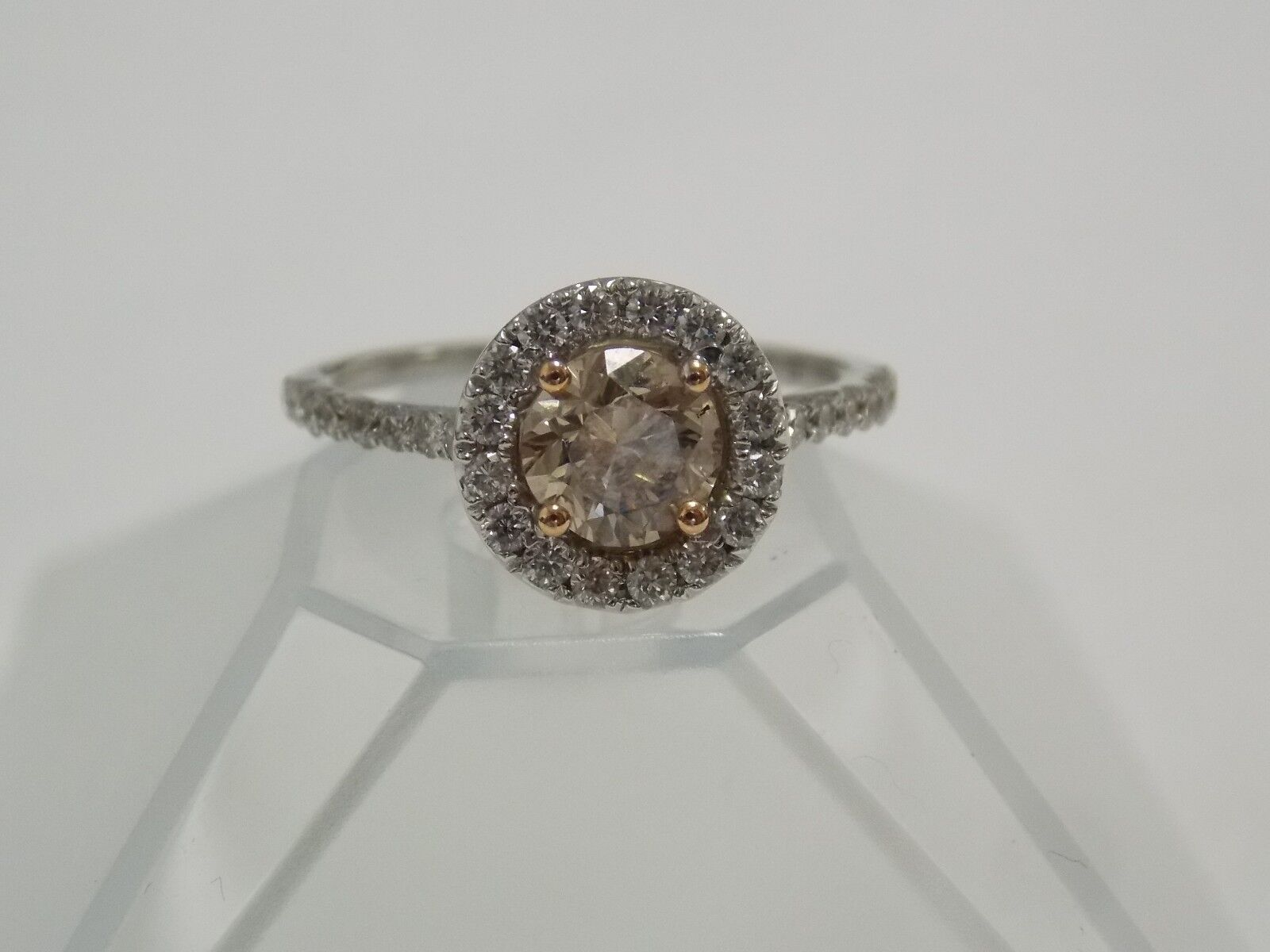 Engagement Ring GIA Certified 1.03 Cts Center Stone