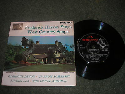 FREDERICK HARVEY SINGS WEST COUNTRY SONGS 4 TRACK EP HMV 7EG 8847 1964 EX COND