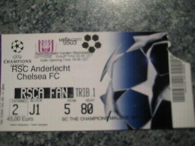 Ticket: Anderlecht - Chelsea UEFA Champions League (23-11-05)
