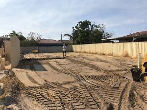 Truck, bobcat and excavator driver