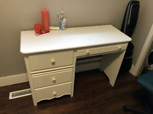 Table Desk, Chair, Bed Mattress & Box for Sale