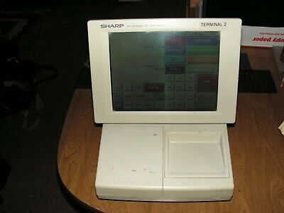 Sharp Pos Touch Screen Terminal 2 Up-3300 System With Manual