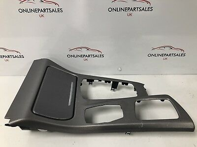 BMW F10 F11 ALUMINIUM CENTER CONSOLE TRIM WITH ASH TRAY RHD 5 SERIES