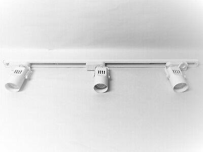 White LED 3 Light Cylinder Track Lighting Kit - Low voltage MR16 by Catalina Catalina Track Lighting