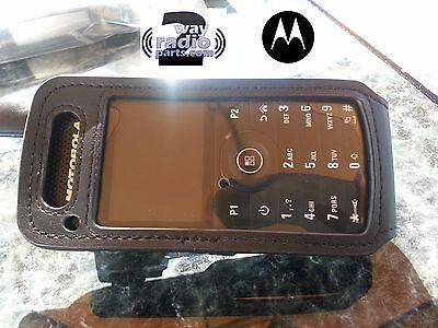 OEM Soft Leather Carry Case Holder Motorola MotoTRBO SL 7550 7580 Swivel Clip ()