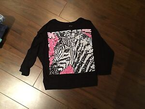 Justice size 13 top with flashy sequence