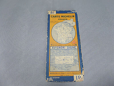 Card Michelin No 81 Avignon-Worthy 1928/Collector Bibendum Vintage