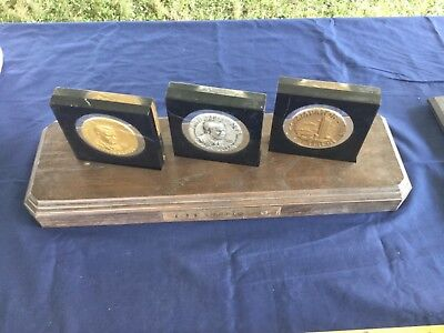 - Nationwide Insurance Citation 76 Paperweight Award set of 4 with holder