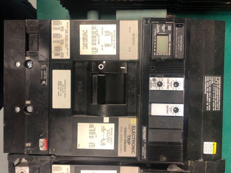 Sq D 800 amp ME36800LI electronic breaker /75% rating plug 800a sensor frame