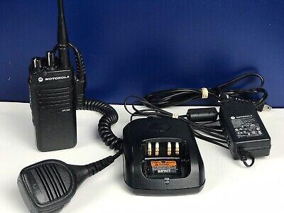 Set of 2 Motorola PR860 UHF 16 chan 403-470 Model #AAH45RDC9AAN3AN VERY GOOD