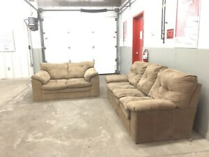 Beige Couch & Love Seat ***** Delivery Included *****