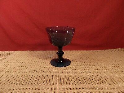 Lenox Crystal Antique Dark Blue Champagne Sherbet Glass 5
