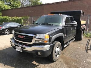 2005 gmc slt turbo diesel duramax fully loaded 4x4 dump bed