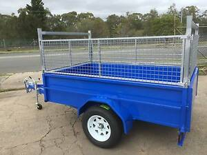 8X5 HEAVY DUTY TRAILER, HIGH SIDES, CAGED, RACKS, MOWING, BOX, Thorneside Redland Area Preview