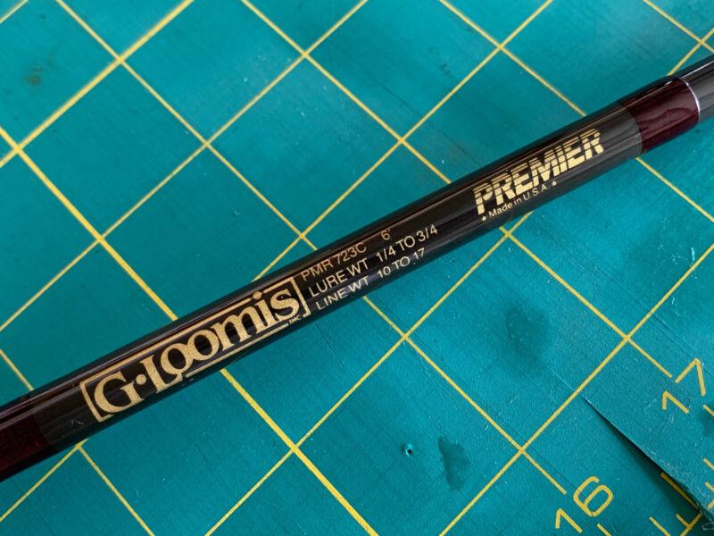 G Loomis Premier Graphite Casting Rod 6' PMR 723c Med-Heavy Power - Vintage Bass