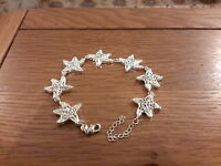 Brand 8inch Silver 925 Stamped Ornate Starfish Bracelet With Gift Box. -  - ebay.co.uk