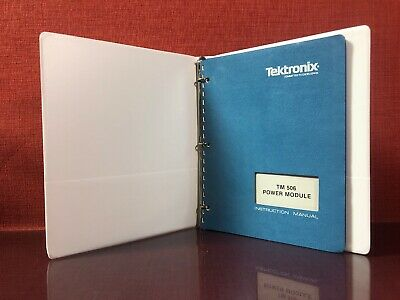 Tektronix Tm 506 Power Module Instruction Manual With Binder 070-1786-00 2406