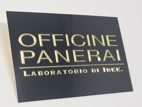 OFFICINE PANERAI brass dealer sign  or collection box cover 115 x 75mm