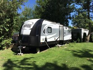 2018 RV trailer on large lot in Port Frank's park