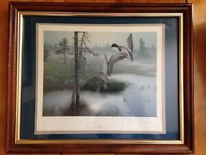 2 Signed Numbered Framed Prints by K Grove & D Rogers