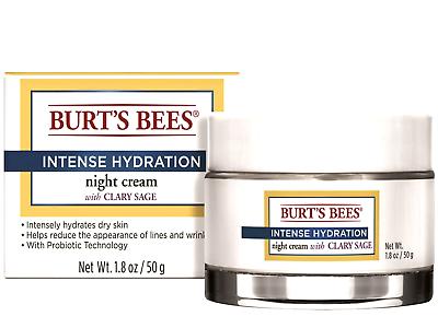 Burt's Bees Intense Hydration Night Cream, Moisturizing Nigh