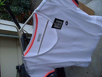 Lotto Women M Medium Tshirt T Shirt Blue Or White  Nike Italian Sport Tennis New
