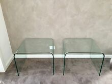 2 X tempered glass coffee/bedside tables Mount Barker Mount Barker Area Preview