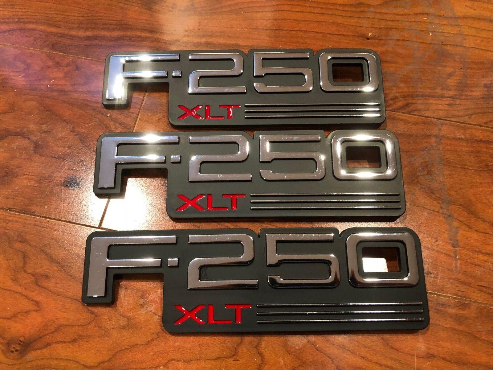 NEW 1992 1993 1994 1995 1996 1997 FORD F250 XLT FENDER EMBLEMS F2TZ-16720-F 3X
