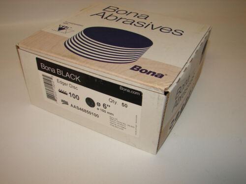 """Bona Abrasives Siafast Black Floor Edger Disc, 6"""" , 100 Grit, 50 Disc"""