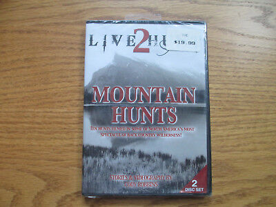 LIVE 2 HUNT - MOUNTAIN HUNTS - BEAR MOOSE ELK BIG HORN RAM - NEW - 2 DVD SET