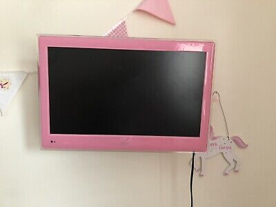 Pink Bush Tv With Built In DVD Player. Wall Bracket Included.