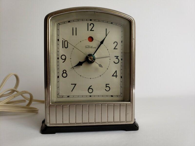 Vintage Telechron Alarm Clock #711, Art Deco