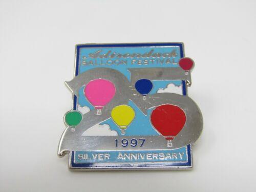 Adirondack Balloon Festival 1997 Pin Silver Anniversary 25 Years
