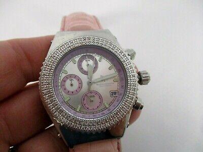 TECHNO MARINE 200M/660 FT DIAMOND BEZEL PINK WOMEN'S WATCH 8386