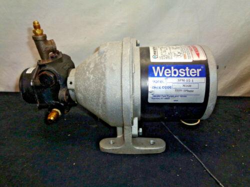 Webster Model SPM-15-1 120V-1 Phase Fuel Oil Supply Transfer Pump (OAY34)