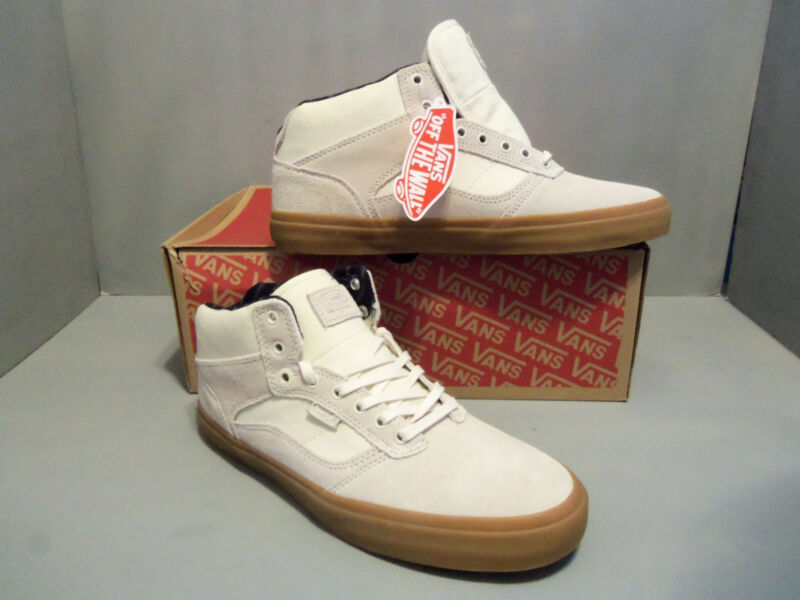 f2ce4b440f Mens VANS Bedford Suede Leather beige off white Gum Skate Shoes Sizes NIB  NEW