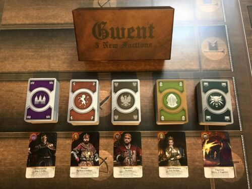 GWENT CARDS (5 *NEW* Factions) 460 Cards Witcher 3 FULL SET with BOX!