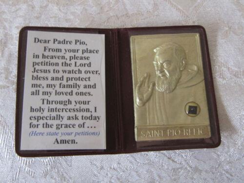 Authentic Saint Padre Pio Relic w/ Small Medal Catholic Christian Religion God