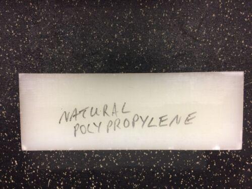 "NATURAL POLYPROPYLENE plate 4 3/16"" x 4.25"" x 12"" long"