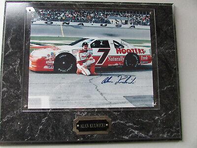 Alan Kulwicki  Signed Autographed Photo Plaque Daytona #7 Hooters Thunderbird Autographed Photo Plaque