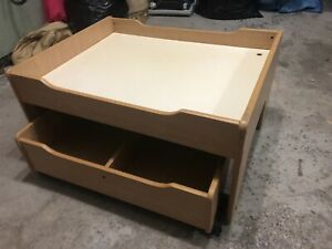 Kids table with storage tray