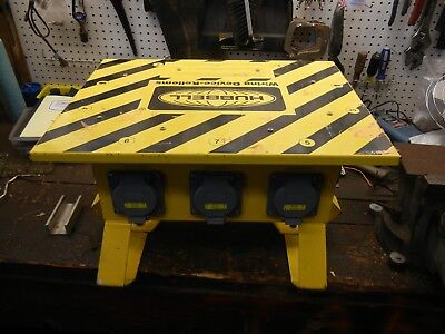 Hhubbell Power Distribution Box Spider Wiring Device Sbs1a 50 Amp 120240 Vac