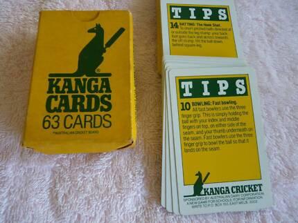 Kanga (cricket) playing cards 1984 Thorneside Redland Area Preview