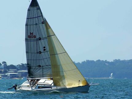 Adams 8 sailing yacht comes on a trailer