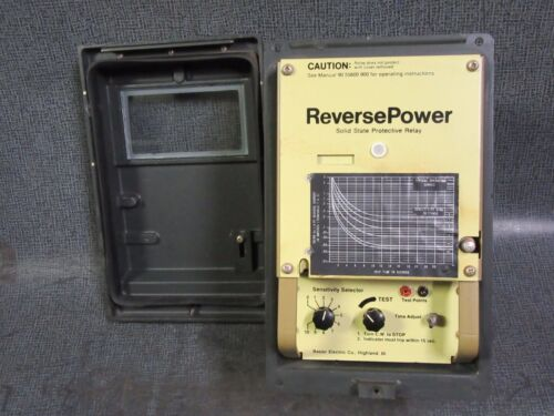 BASLER ELECTRIC PRP110 REVERSE POWER SOLID STATE PROTECTIVE RELAY 90556001